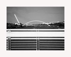 Sevilla 119 (BLANCA GOMEZ) Tags: spain sevilla seville andalucia andalusa bw blackwhite arquitectura architecture shadows light silhouettes patterns puentes bridges puentedelabarqueta puentedelalamillo pasareladelacartuja water agua