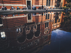 The V&A Museum (The Ultimate Photographer) Tags: va museum reflection water musee redbricks bricks pond stream hose cafe coffee shop people relaxing chilling sunnyday sunny shadow dayout olympus em1 omd ultimatephotographer essexphotographer chelmsfordphotographer streetphotography holiday bluesky
