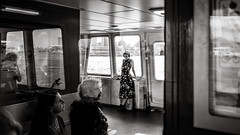 on the ferry (Gerard Koopen) Tags: nederland netherlands amsterdam city capital ferry ndsm werf travels people woman music bw blackandwhite blackandwhiteonly straat street urban candid streetlife straatfotografie streetphotography fuji fujifilm x100t fujilove 2018 gerardkoopen gerardkoopenphotography