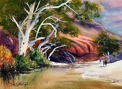 Ormiston Gorge Northern Territory By Joe Cartwright, Watercolor Paintings (katalaynet) Tags: follow happy me fun photooftheday beautiful love friends