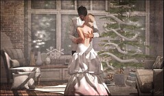The Kiss (Broderick Logan) Tags: secondlife sl second life 2nd 2ndlife avi avatar digital art picture romance couple brodericklogan broderick logan enaroane ena roane romantic love candid husband wife winter formal ardent poses ardentposes christmas kiss embrace hug hold passion passionate gown tux tuxedo deadwool deaddollz