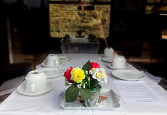 Dining out, Parkend Steam Railway (Christopher Smith1) Tags: parkend steam railway lydney gloucestershire sign dining table flowers menu