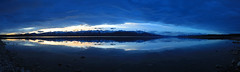 Lake Pukaki Pano (Matt Champlin) Tags: life light darkness nature outdoors newzealand lake mountains snow winter cold snowy reflection adventure hike hiking peace peaceful quiet calm calming lakepukaki tekapo island canon 2018 travel