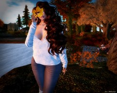 Autumn (Sαrα HєƖƖєяѕнαηкѕ) Tags: brunette bento addams blueberry nonnude new boots denim jeans autumn fun foxcity whimberly sintiklia maitreya catwa cute pretty secondlife sl hairfair2018