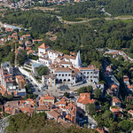 Luftaufnahme des Palastes in Sintra thumbnail