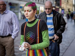 Paint Your Whole World With A Rainbow (Leanne Boulton) Tags: urban street candid portrait portraiture streetphotography candidstreetphotography candidportrait streetportrait streetlife colourful woman female girl face eyes expression mood feeling rainbow eyeshadow hair hairstyle braces purple green multicolour makeup style fashion tone texture detail depthoffield bokeh contrast naturallight outdoor light shade city scene human life living humanity society culture lifestyle people canon canon5dmkiii ef2470mmf28liiusm color colour glasgow scotland uk