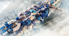 CLEARSKIES CORPORATION 'ATMOS' (Pierre E Fieschi) Tags: lego micro microscale microspace microspacetopia moc concept art shiptember shiptember2018 pierre fieschi pierree detail refinery atmosphere clouds