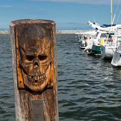 Ostsee  (19) (berndtolksdorf1) Tags: deutschland mecklenburgvorpommern barth hafen holzskulptur wasser ostsee schiffe outdoor
