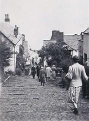 Clovelly Devon 1950 (Bury Gardener) Tags: bw blackandwhite oldies old snaps scans england devon clovelly 1950s 1950 monochrome mono