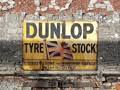 Dunlop sign, Swanage Railway (DorsetBelle) Tags: signs vitreousenamelsigns enamelsigns swanagestation