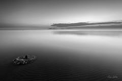 Quiet sunrise (Juan Galián) Tags: murcia mar mediterráneo monochrome marina mediterranean monocromo marmenor spain sea water bw blackandwhite landscape litoral paisaje playa agua amanecer