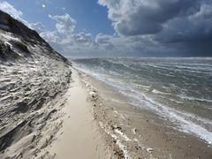 de Slufter (Ger Veuger) Tags: landschap landscape noordholland noordhollandslandschap deslufter texel strand beach zee sea wolken clouds duinen dunes zand sand kust