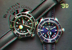 Fifty Fathoms 3D (lambo_photo) Tags: blancpain watch fifty fathoms 3d stereo anaglyph diver milspec ocean commitment
