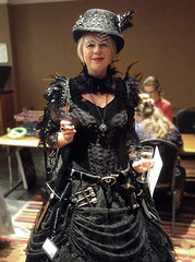 Assassin Costume for Dinner, Discworld Convention 2018 (Phil Masters) Tags: 5thaugust august2018 discworldconvention discworld discworldconvention2018 assassin discworldassassin kaosbutterfly fancydress