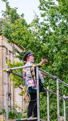 YMPST waggon play performance, King's Manor, 16 September 2018 - 06 (nican45) Tags: yorkmysteryplays2018 16september2018 16092018 18135 18135mm 2018 csc fuji fujifilm kingsmanor mysteryplays nickansell september supporterstrust theharrowingofhell xt2 xf18135mmf3556rlmoiswr ymp ympst york yorkshire cast costumes mirrorless performance photographer photography waggonplay