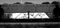 graffiti on freights (wojofoto) Tags: amsterdam nederland netherland holland graffiti streetart freighttraingraffiti freighttrain freights fr8 vrachttrein cargotrain wojofoto wolfgangjosten delta zwartwit monochrome blackandwhite