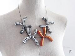 Necklace 2 (Alessia Bodini) Tags: polymerclay polymerclaynecklace striped beads