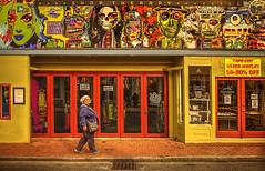 Shop Therapy (Jon Scherff) Tags: provincetown colorful color people sidewalk street storefront nikond810 reddoors paintedbuildings streetart walking
