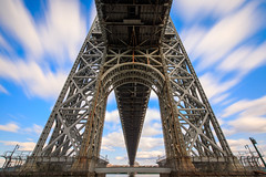 George Washington Bridge (Jemlnlx) Tags: canon eos 5d mark iv 5div 5d4 ef 1635mm f4 l is usm wide lens zoom bw 30 10stop neutral density filter nd gwb george washington bridge new york jersey ny nj gitzo markins tripod q3 1545t