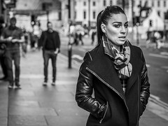 Bracing (Leanne Boulton) Tags: portrait people urban street candid portraiture streetphotography candidstreetphotography candidportrait streetportrait eyecontact candideyecontact streetlife woman female girl face eyes expression mood emotion feeling cold autumn weather chilly bracing style fashion tone texture detail depthoffield bokeh naturallight outdoor light shade city scene human life living humanity society culture lifestyle canon canon5dmkiii 70mm ef2470mmf28liiusm black white blackwhite bw mono blackandwhite monochrome glasgow scotland uk