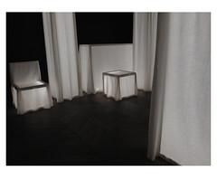 [ B L E U  /  B L A N C  /  R O U G E ] (michelle@c) Tags: interior space exhibition craftfell study compostion curtain furniture ghost linen light darkness nathaliejunodponsard museum manufacturedesgobelins troiscouleurs blue white red blau weiss rot cinematographic tribute mmmkk parisxiii 2018 michellecourteau