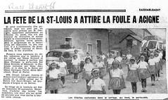 La fête de la St-Louis a attiré les foules en 1966