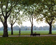 Jogger (nick.easom) Tags: victoria park jogger runner sitting bench trees grass autumn