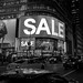 SALE, SALE, SALE in Black and White at H&M Store, Broadway, Times Square - NYC