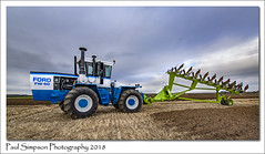 Ford FW-60 Tractor and plough (Paul Simpson Photography) Tags: ford fordfw60 ploughingmatch farming farm machinery tractor paulsimpsonphotography imagesof imageof photoof photosof field ground mud october 2018 northlincolnshire ploughingtournament plough sonya77 greysky transport