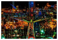 Hull fair 2018 skyline (Mallybee) Tags: filmpack5 dxo hdr nighttime colourful aerialshot rides skyline fairground 2018 fair hull mallybee manualfocus oldlens f14 58mm rokkor fuji xt3 fujifilmxt3