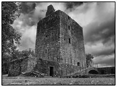 Cardoness Castle (World of Izon) Tags: castle scotland cardoness gatehouseoffleet stone tree sky clouds blackandwhite