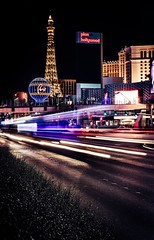 Las Vegas Strip (_John Hikins) Tags: light trails nikon nikkor sigma art 1835 1835mm d500 las vegas strip paris hotel planet hollywood night traffic cars slow shutter