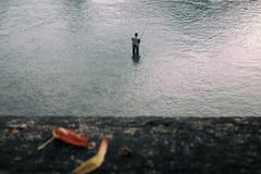 Un giorno di Ottobre (Roberto Spagnoli) Tags: october fisherman verona adige river autumnleaves autunno foglie color fujix100t fotografiadistrada streetphotography loneliness tinyman