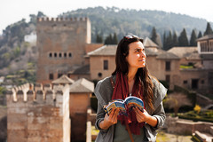 Living Andalucía (cro' . . .in the morning) Tags: select alhambra granada travelling livingandalucia andalucia lonelyplanet tourist españa spain people sml sun admiringthesun architecture
