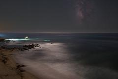 Newport Beach Fishing (RyanLunaPhotography) Tags: coronadelmar fuji fujifilm lagunbeach milkyway newportbeach ocean orangecounty socal beach night nightscape seascape stars