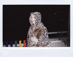 Denise 2018 (Karl Gunnarsson) Tags: fujifilm instax instaxwide wide300 portrait leopardprint denise