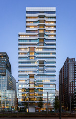 UN Studio Tower (Jack Landau) Tags: zuidas amsterdam modern architecture city urban design sunset dusk canon 5d jack landau sky road