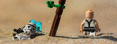 Stranded. (Lego_LUTs) Tags: green red purple takodana yellow blue storm trooper star wars war lego outdoors clone troopers first order blasters afol minifigs minifigures bricks blocks canon toy toys force legos t3i republic people photoadd atst death rogue one dirt practical effects orange 60mm darth maul battlefront tree 7th sky corps snow road captain rex commander cody bike animal