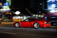 Ferrari F40 (Natty France @nfsphoto) Tags: ferrari f40 ferrarif40 flagras flagra florianópolis floripa fln santacatarina sc brasil brazil panning br nightshot avbeiramarnorte canon6d 50mm encontrodecarros