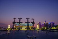 Haixinsha, the central axis of Guangzhou city (qlin zhang) Tags: guangzhou axis blue central city haixinsha night 商业 建筑 建筑摄影 珠江 tianhe cbd