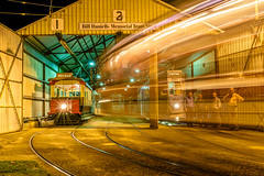 Brisbane Tramway Museum (stephenk1977) Tags: australia queensland qld brisbane nikon d3300 light trail tramway museum night longexposure tram lightrail fernygrove shed
