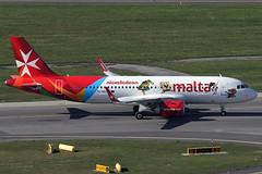 Air Malta Airbus 320-251N 9H-NEO (c/n 7875) Nickelodeon stickers. (Manfred Saitz) Tags: vienna airport schwechat vie loww flughafen wien air malta airbus 320 neo a20n 9hneo 9hreg nickelodeon