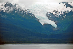 Hanging Glacier (Infinity & Beyond Photography) Tags: alaska insidepassage tongass nationalpark mountain hanging glacier mountains peaks sow ice sea water alaskan landscapes scenery views photos forest holkhambay