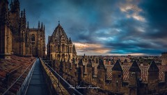 Catedral de Salamanca (franlaserna) Tags: over shadows lights edition sun sky clouds architecture arquitectura cathedral catedral