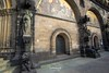Bremen Cathedral (Stefan Beckhusen) Tags: bremen hansestadtbremen cathedral dome church statues sculptures wall front religion ancient medieval stone wideangle city town citycenter