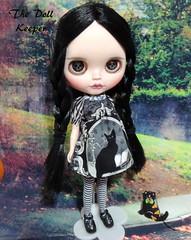 Wednesday Addams Blythe Doll (The doll keeper) Tags: wednesday addams blythe custom doll