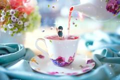Rosehip bath (Yuri Figuenick) Tags: movie video portrait hotbath teatime flower detox pouring rosehip teacup tea magic fairytale dreamy art mark3 5d eos canon woman back me selfie myself pixaloop