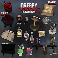 [Kres] Creepy Creations ([krescendo]) Tags: arcade thearcade creepycreations monster heart horror creepy halloween spooky spoopy secondlife sl kres krescendo
