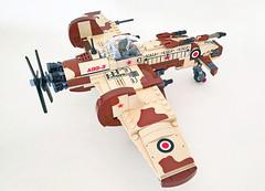 AGG-3 fighter/bomber/attack plane (John C. Lamarck) Tags: lego kazi shinden plane aircraft pusher avion warbird military war