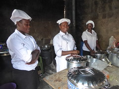 Catering team (prondis_in_kenya) Tags: kenya nairobi colddryseason kayole tujisaidie school vbs holiday lunch udp urbandevelopmentprogramme asc caterer kitchen